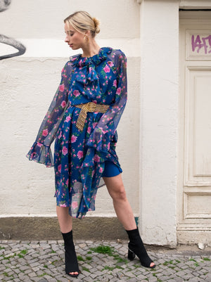 Load image into Gallery viewer, Philosophy Di Lorenzo Serafini Floral Print Dress