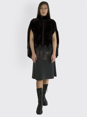 Load image into Gallery viewer, Natacha Et Vanessa - Lambskin Cape