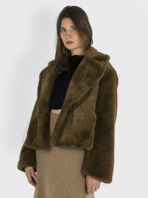 Load image into Gallery viewer, VINCE -  Fluffy Faux Fur Jacket