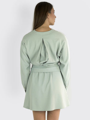 Load image into Gallery viewer, TIBI - Chalky Drape Midi Wrap Dress