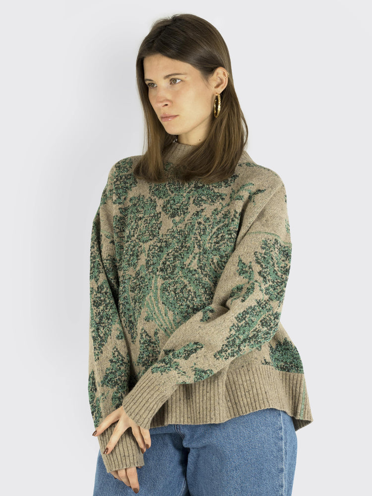 Load image into Gallery viewer, Circus Hotel - Printed Lurex Sweater