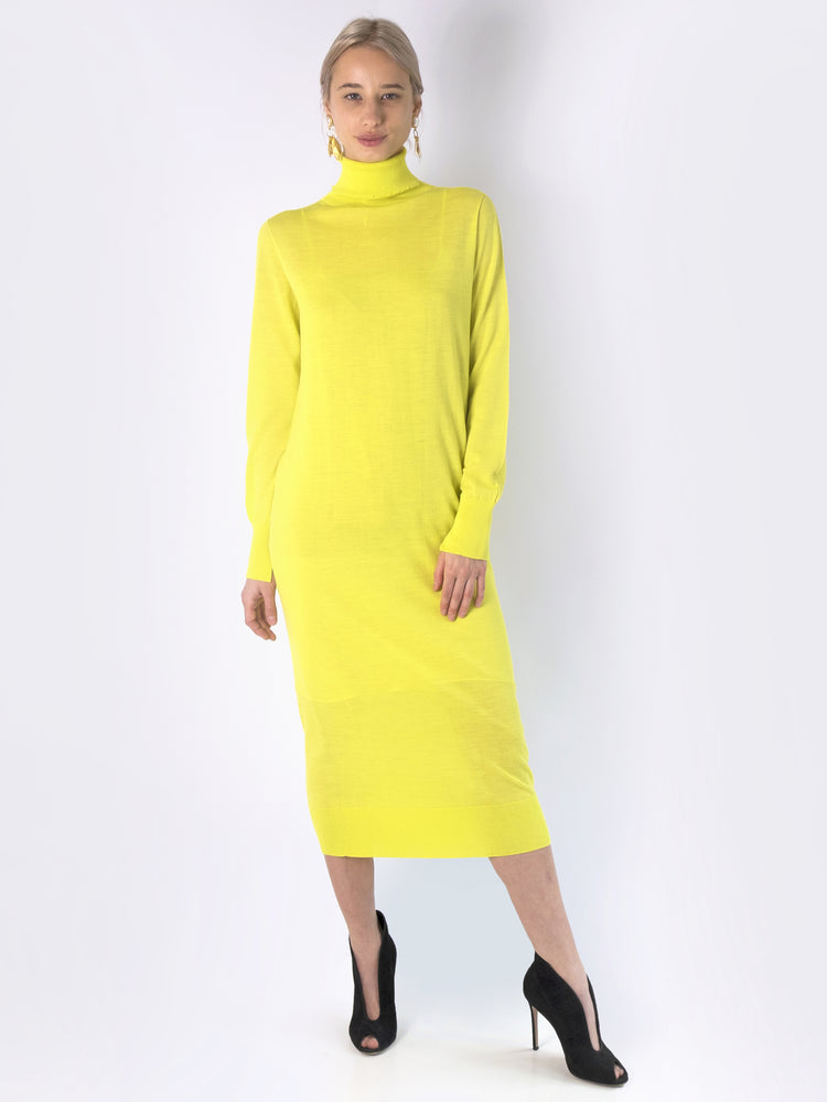 Circus Hotel - Turtleneck Neon Dress