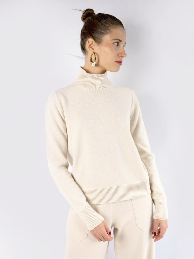 MRZ - High-Neck Cashmere-Wool Jumper