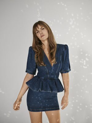 Load image into Gallery viewer, Rotate Birger Christensen – Mindy Blue Dress -  Dresses | Rebecca Store
