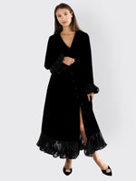 Rotate Birger Christensen - Ruffle Velvet Dress
