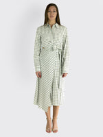 TIBI - Elliot Checkered Cut-Out Midi Dress