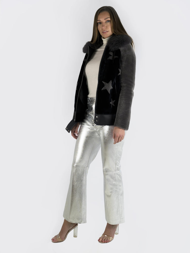 Philosophy Di Lorenzo Serafini – Metallic Leather Flared Pants