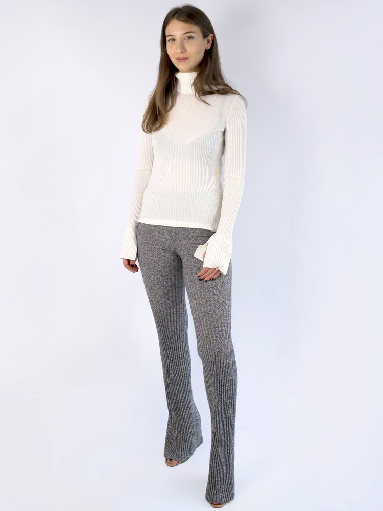 MRZ - Turtleneck Ribbed Knit Jumper