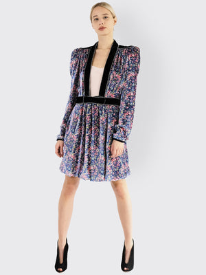Load image into Gallery viewer, Philosophy Di Lorenzo Serafini - Floral Print Mini Dress