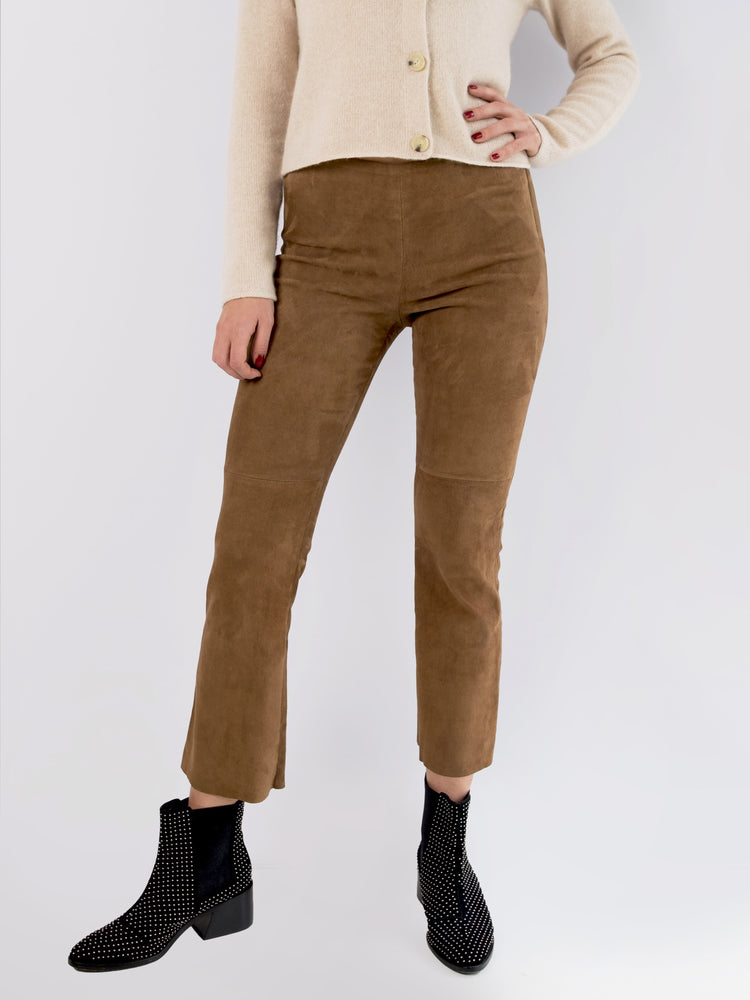UTZON - Brown Sued Leather Pants