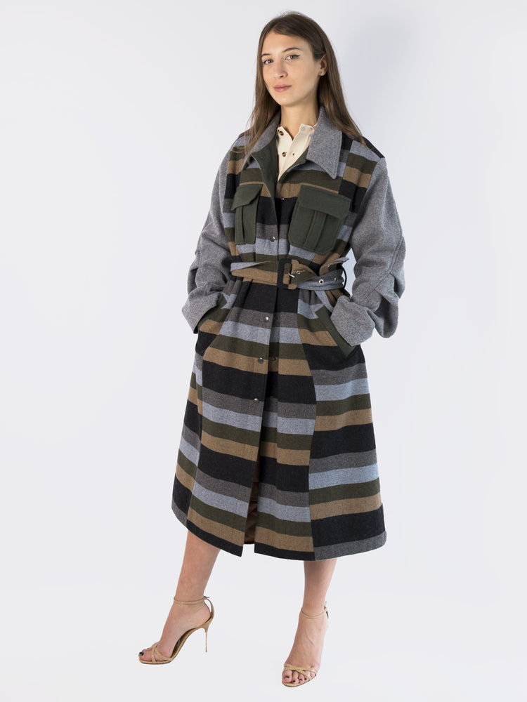 Victoria / Tomas - Striped Multicolored Coat