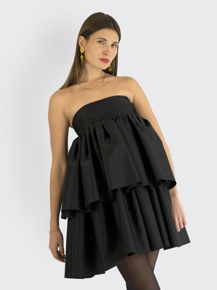 Load image into Gallery viewer, Rotate Birger Christensen Carmina Satin Strapless Mini Dress