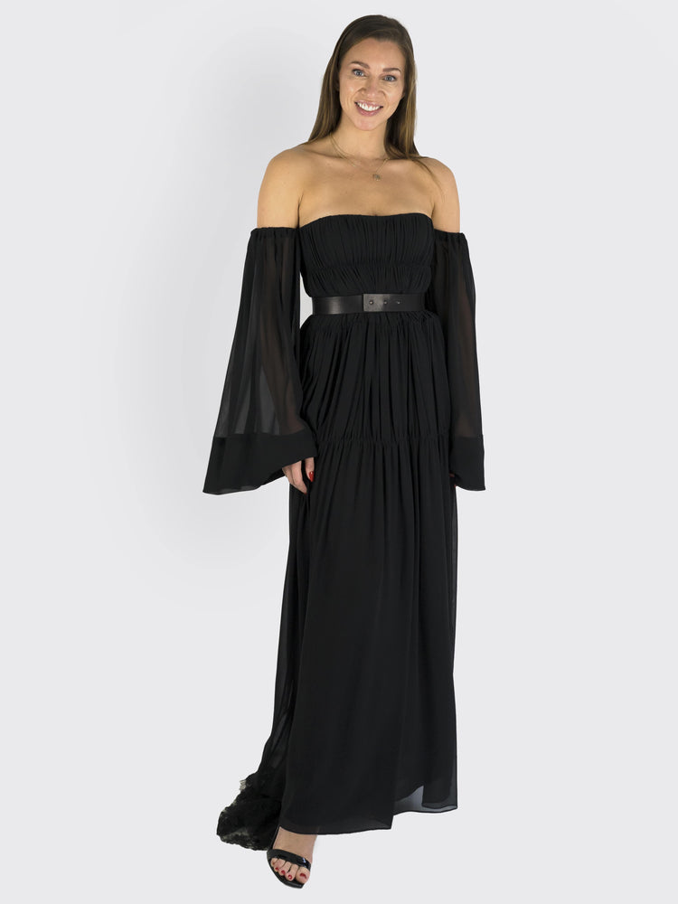 Vera Wang - Off-Shoulder Abendkleid