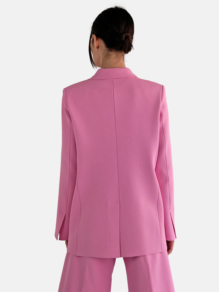 MRZ - Double Breasted Pink Blazer Jacket