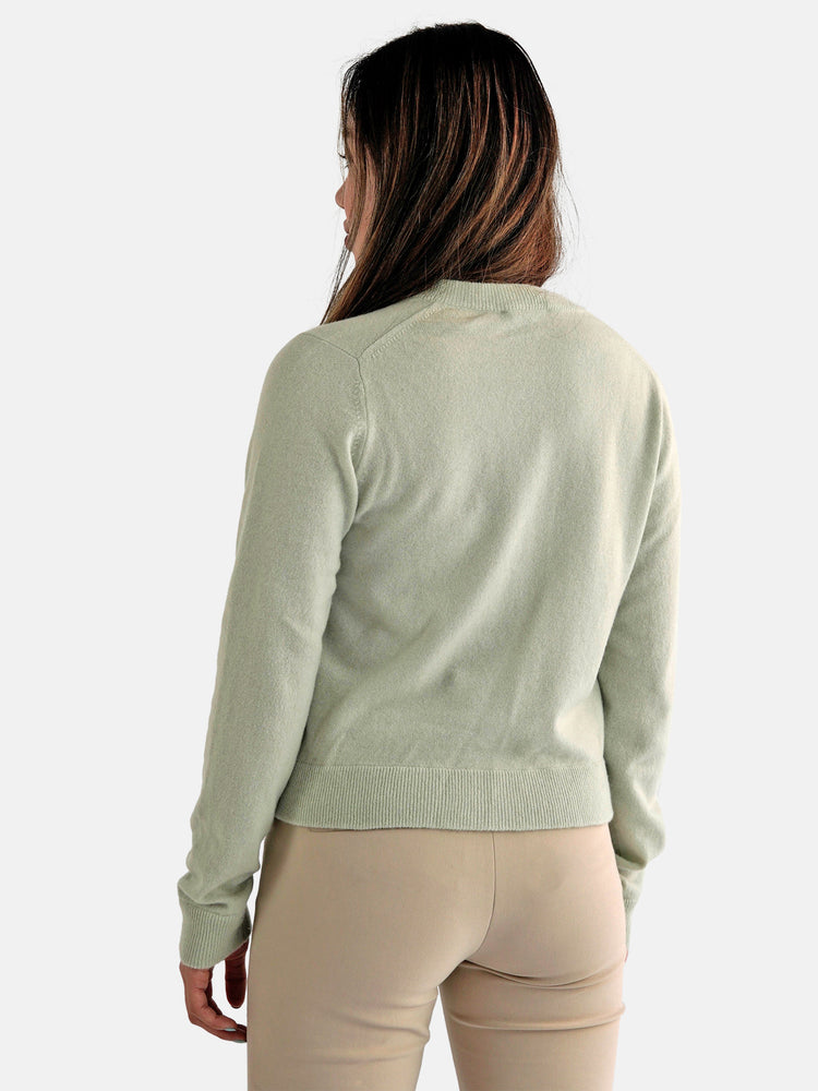 Load image into Gallery viewer, Vince - Mint Cashmere Cardigan