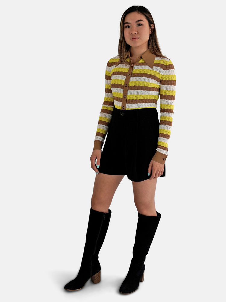 DoDo Bar Or - Striped Polo Top