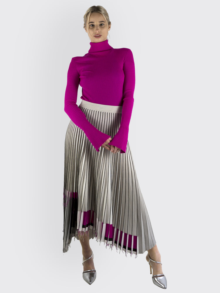 MRZ – Knitted Pleated Skirt - Fashion Skirts For Sale | Rebecca Store