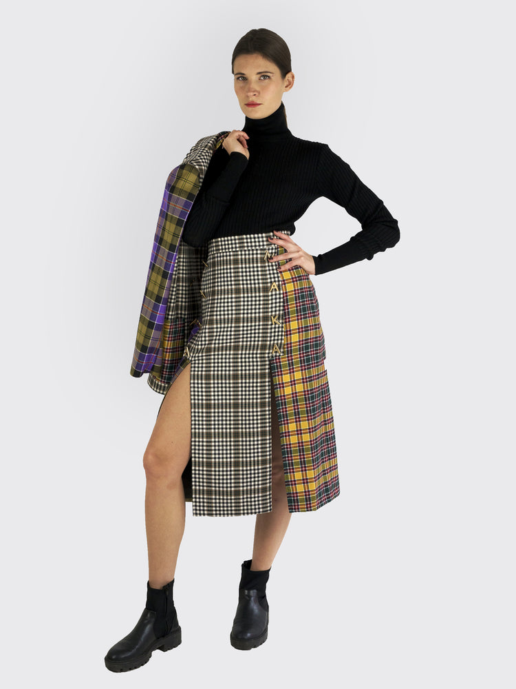 Tata Naka - Plaid Skirt - Fashion Skirts For Sale | Rebecca Store