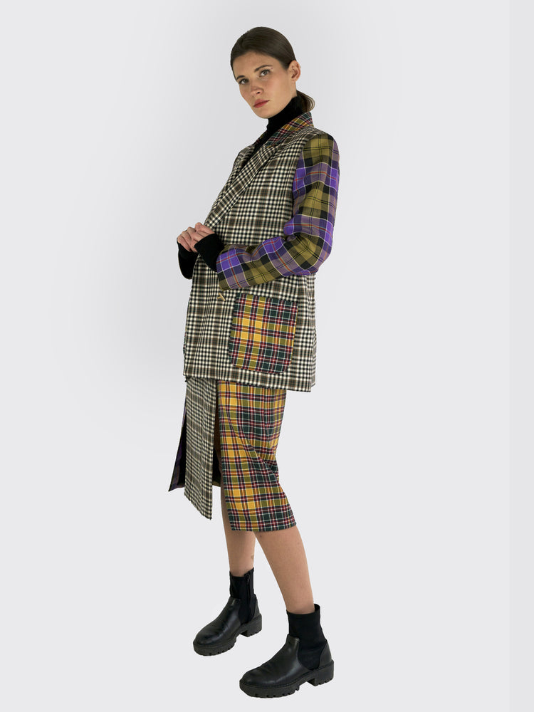 Tata Naka - Double-Breasted Checked Blazer