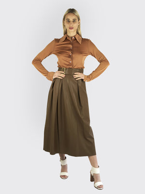 Load image into Gallery viewer, Vince – Leather Skirt - High Waist Skirt | Rebecca Store