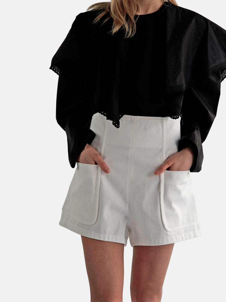 Load image into Gallery viewer, Philosophy Di Lorenzo Serafini - Ruffled Poplin Shirt
