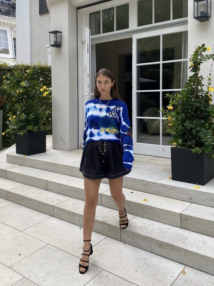 MSGM - Croped Pattern Knitted Sweater