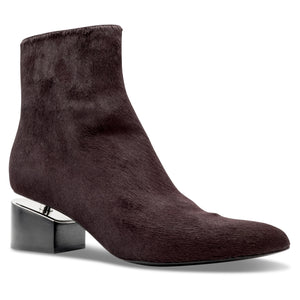 Alexander Wang Jude Haircalf Ankle Boot in Bordeaux