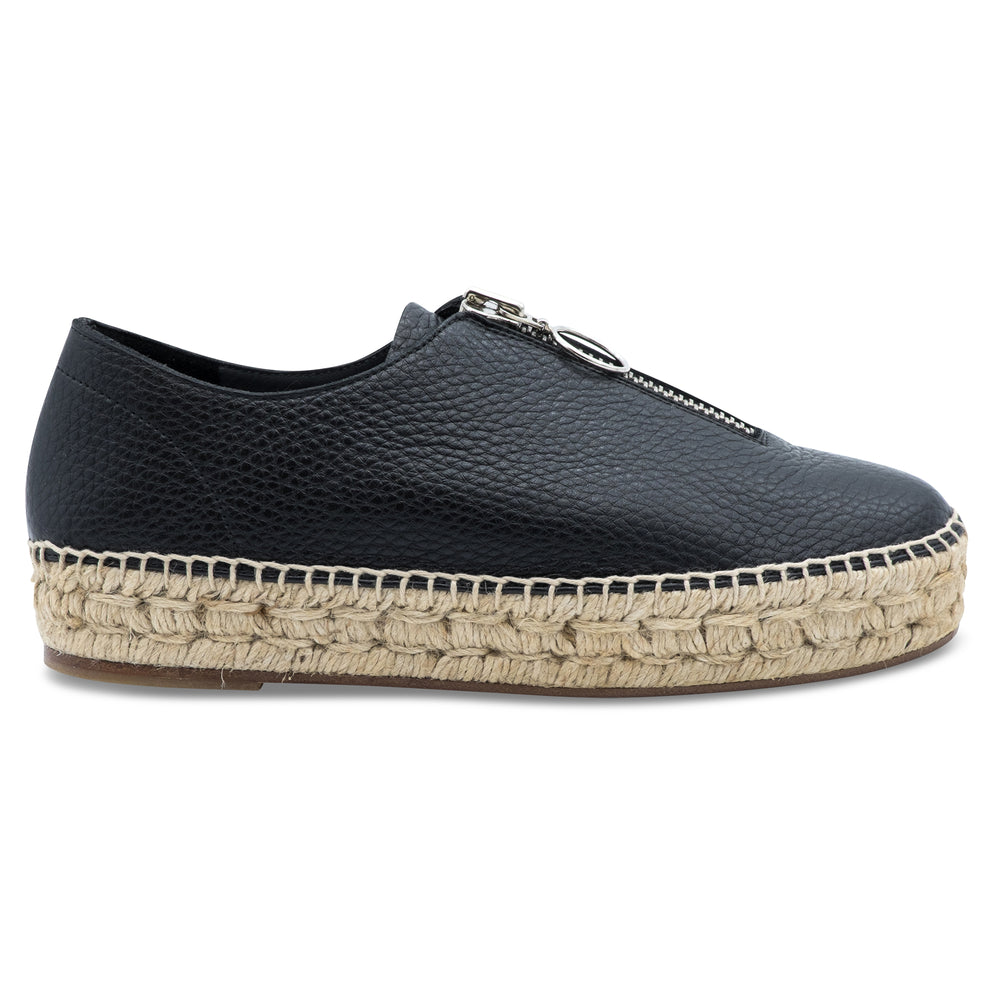 Alexander Wang - Devon Pebbled Leather Espadrilles