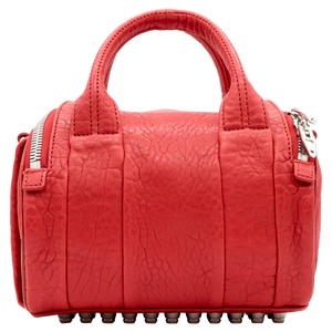 Alexander Wang Rockie leather bag with textured surface in red