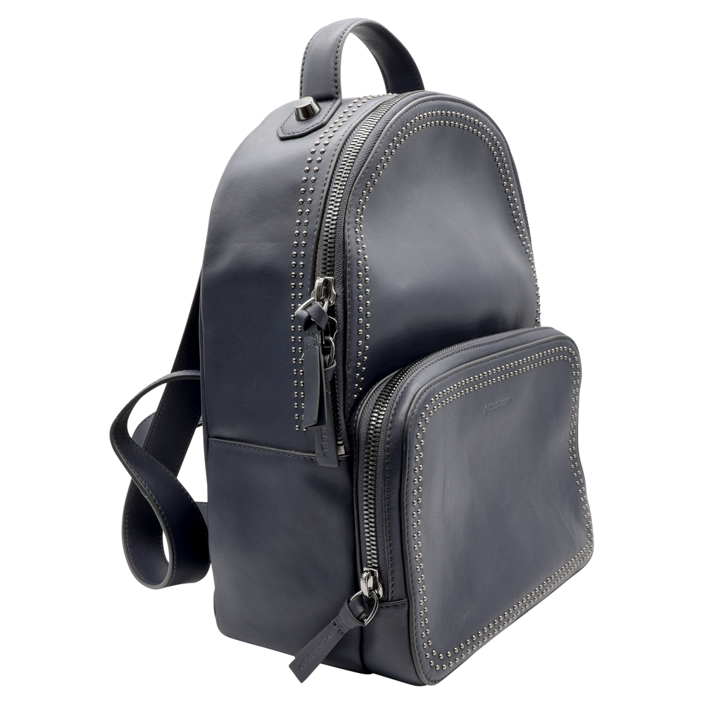 Mackage - Blue Brook Studded Leather Backpack