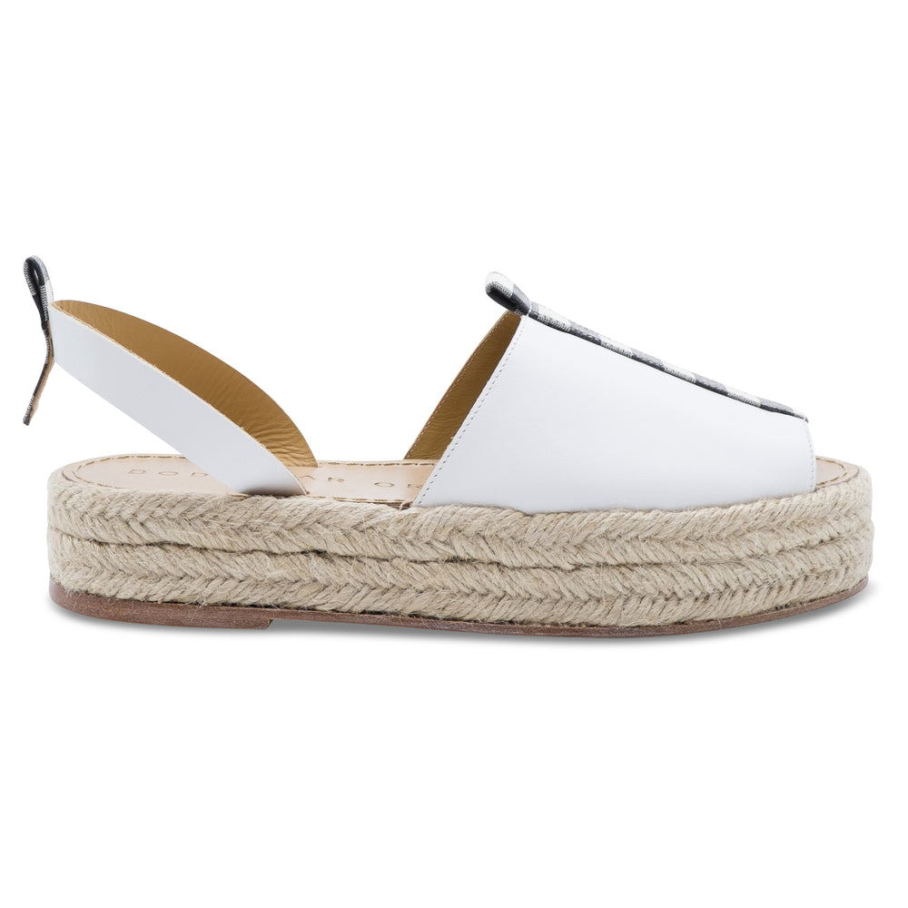 Dodo Bar Or Espadrille White/Black
