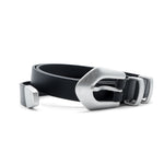 Philosophy di Lorenzo Serafini Silver-Tone Buckle Leather Belt