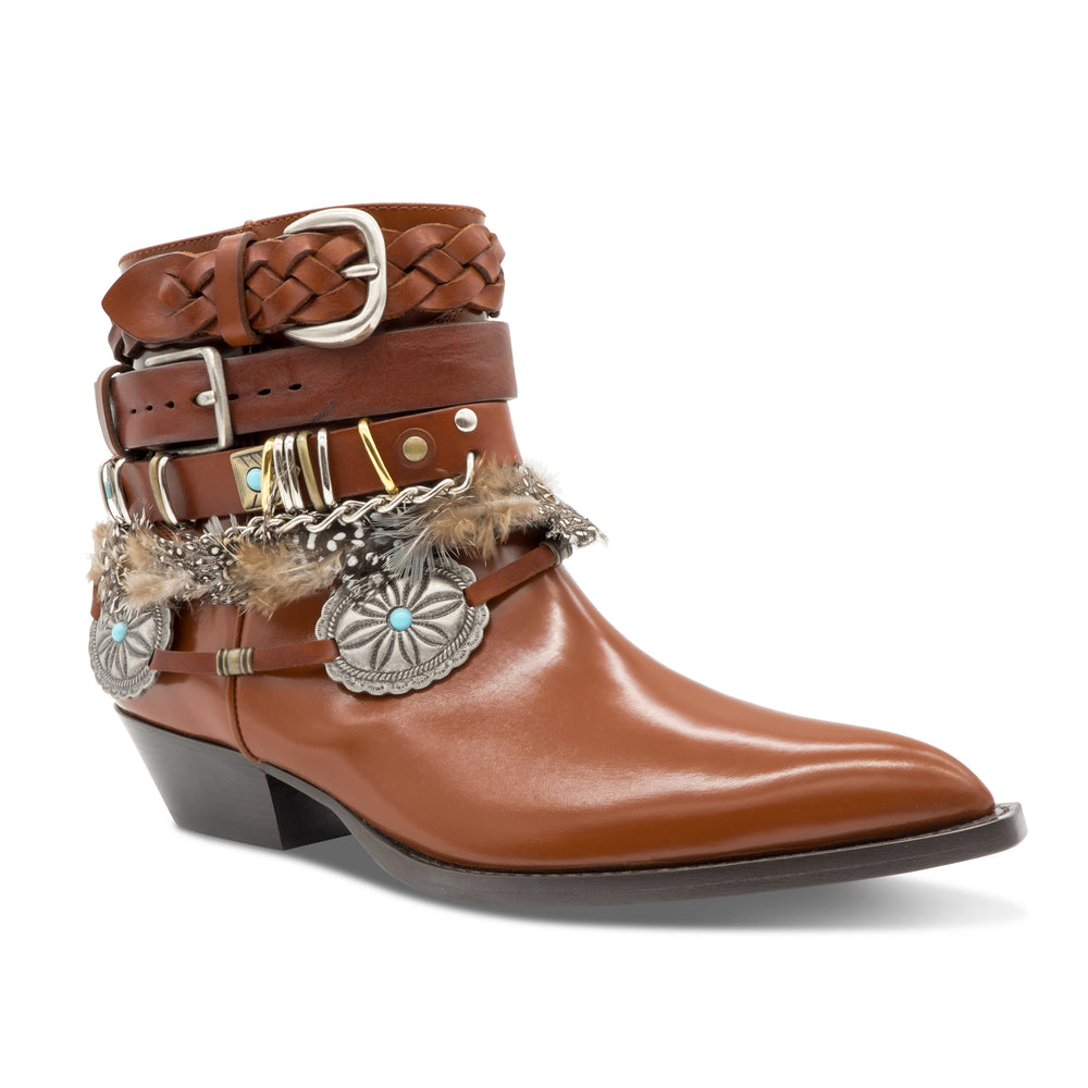 Philosophy Di Lorenzo Serafini Cowboy Boots in Chocolate brown