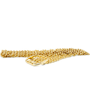 Philosophy Di Lorenzo Serafini Gold Wide Chain Belt