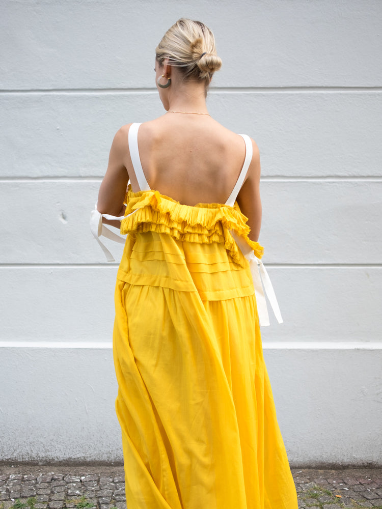 Philosophy Di Lorenzo Serafini Yellow  Maxi Dress