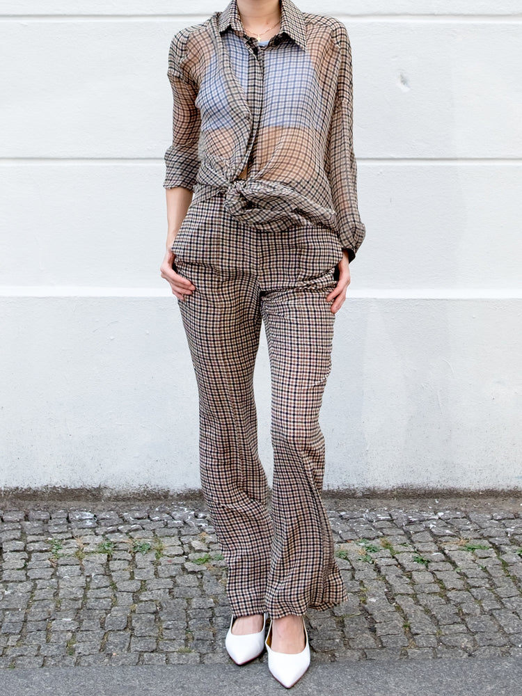 Vera Wang - Checkered Blouse