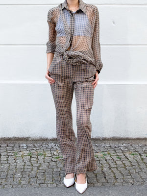 Vera Wang Checkered Blouse