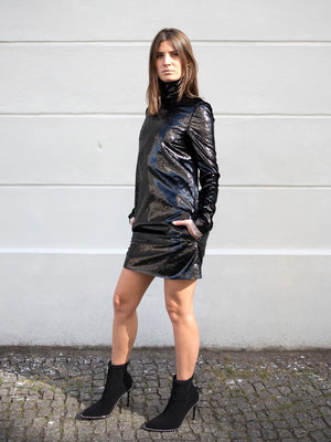 Load image into Gallery viewer, Philosophy di Lorenzo Serafini Black Short Dress