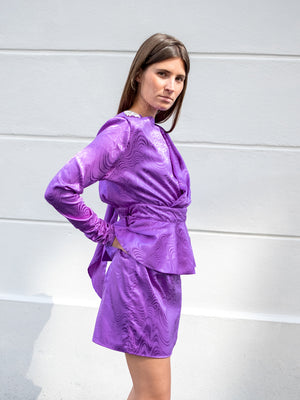Load image into Gallery viewer, DoDo Bar Or Purple Grace Dress