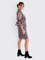 Christian Pellizzari - Pink Striped Dress