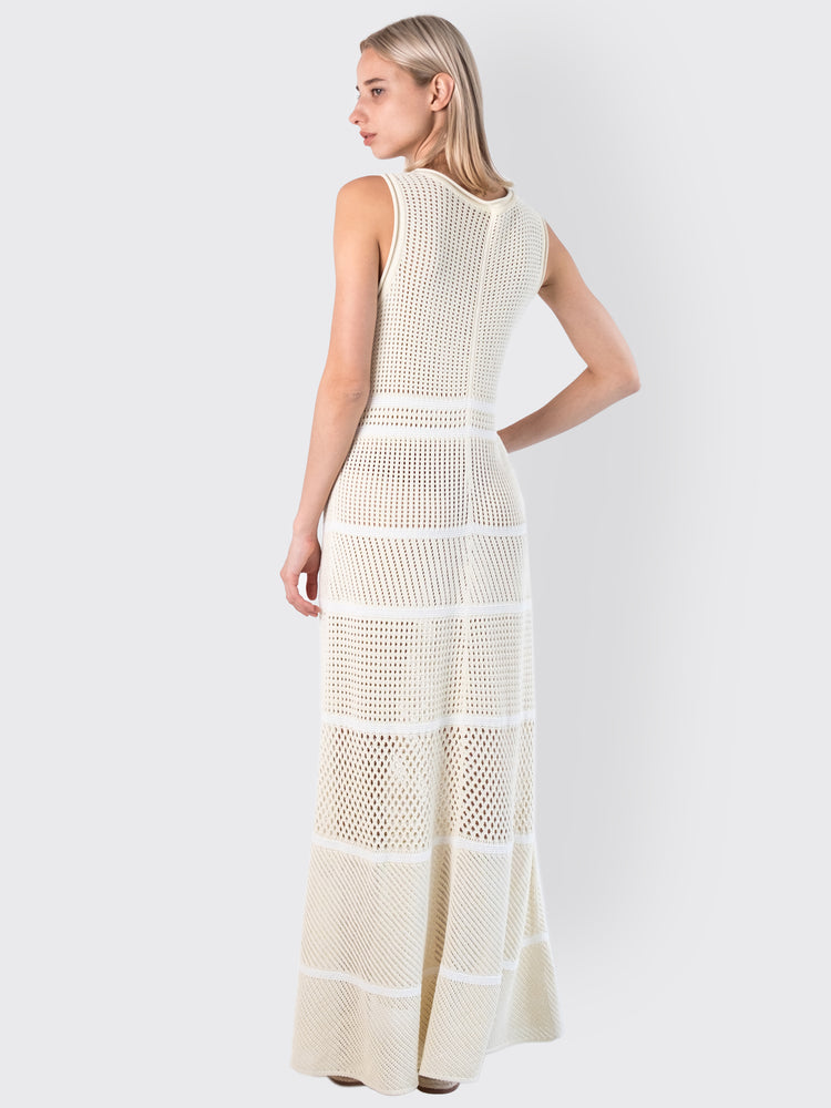Load image into Gallery viewer, MRZ - Striped Open-Knit Dress
