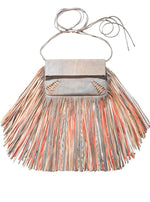 Barbara Bonner - Ginger Multicolor Fringed Leather Bag