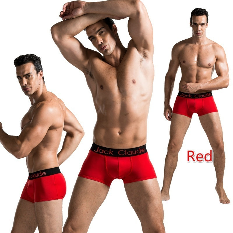 Fashion New 2QIMU Brand Male Men's Boy Underwear Underpants Men's Trunks U Convex Pouch Silk Sexy
