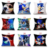 Home Decor  Sonic The Hedgehog Series Pillowcase Sonic Pillow Game Figures Cushion Cover Sofa Cushion Cover Home Textile