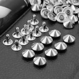 100 Pcs Punk Silver Pyramid Rivets Studs for Bag Shoes Belt Hat Decoration New
