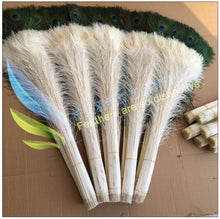 Load image into Gallery viewer, Beautiful white peacock feathers, 30-35 cm, 10 pcs, fashiondecorate Crafts,