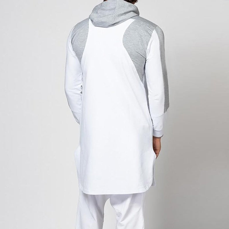 High Quality Muslim Islamic Clothing for Arabia Men Hoodie Jubba Kurta Long Sleeve Kaftan Abaya Muslim Men Clothing