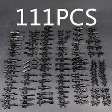 Load image into Gallery viewer, Guns Weapon Pack Military Swat Team City Police Soldiers Figure Building Blocks WW2 Military Army Builder Series Toys 6/13/37/39/111 PCS