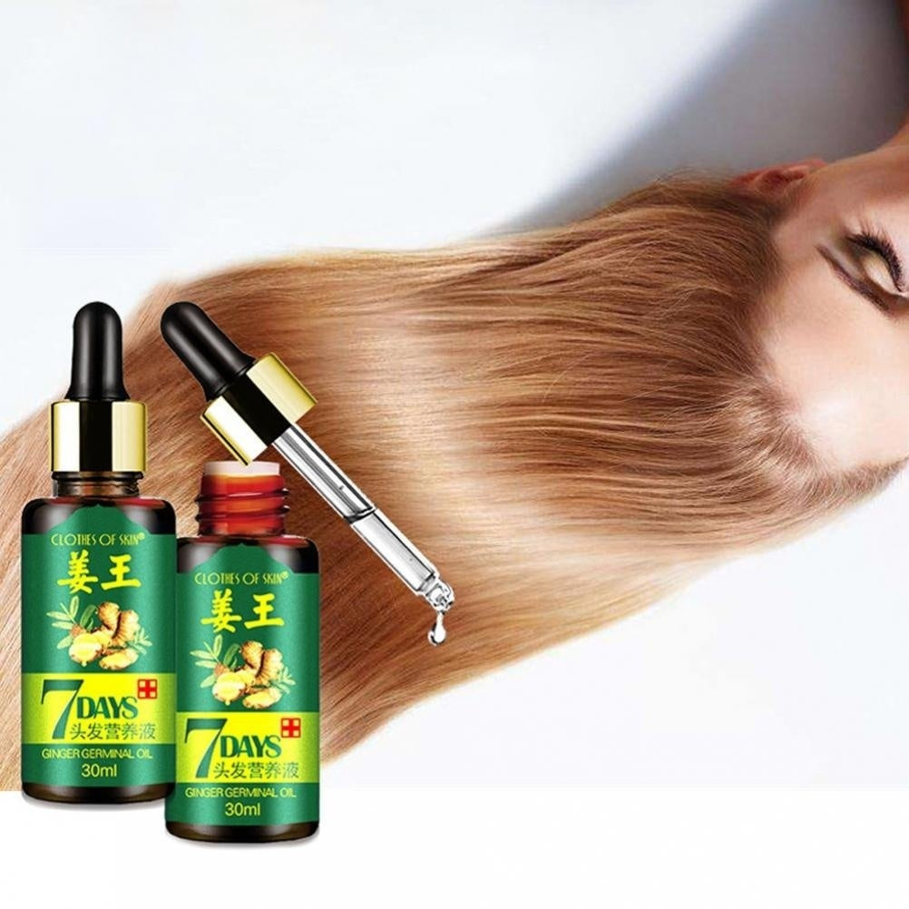 7 Days Hair Growth Care Ginger Essential Oil Nourishing for Dry Damaged Hairs Hair Growth Essence Hair Loss Liquid Dense Hair Fast Hair Growth Product