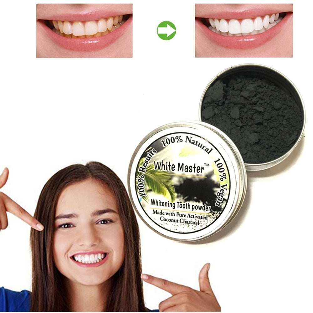 Black Bamboo Charcoal Powder Natural Organic Activated Coal of Pure Tooth Powder Teeth Whitening